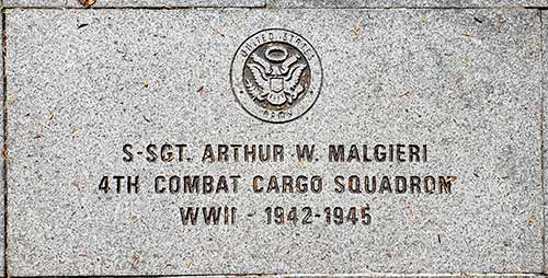 12 x 24 size memorial stone with branch of service emblem.